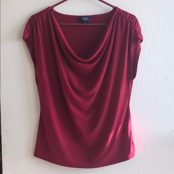 Gorgeous sparkly red evening top